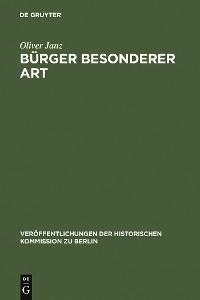 Cover Bürger besonderer Art