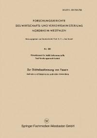 Cover Zur Dichtebestimmung von Fasern