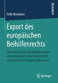 Cover Export des europäischen Beihilfenrechts