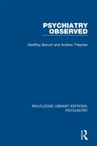 Cover Psychiatry Observed