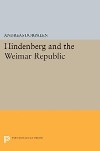 Cover Hindenberg and the Weimar Republic