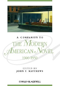 Cover A Companion to the Modern American Novel, 1900 - 1950