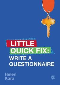 Cover Write a Questionnaire