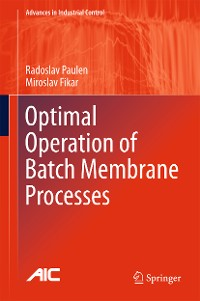 Cover Optimal Operation of Batch Membrane Processes