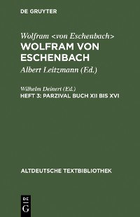 Cover Parzival Buch XII bis XVI