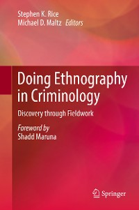 Cover Doing Ethnography in Criminology