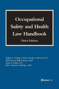 Cover Occupational Safety and Health Law Handbook