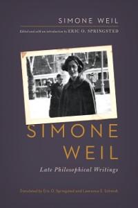 Cover Simone Weil