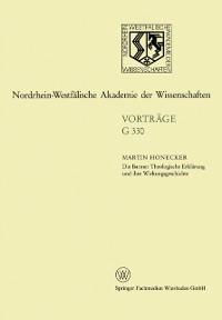 Cover Die Barmer Theologische Erklarung und ihre Wirkungsgeschichte