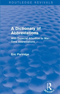 Cover Dictionary of Abbreviations