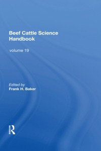 Cover Beef Cattle Science Handbook, Vol. 19