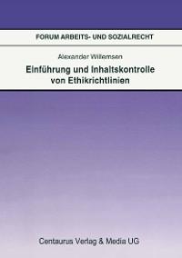 Cover Einführung und Inhaltskontrolle von Ethikrichtlinien