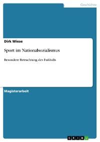 Cover Sport im Nationalsozialismus