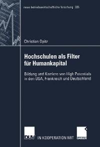 Cover Hochschulen als Filter für Humankapital