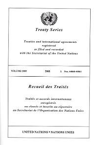 Cover Treaty Series 2509/Recueil des Traités 2509