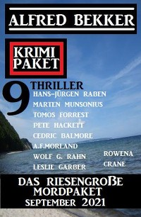 Cover Das riesengroße Mordpaket September 2021: Krimi Paket 9 Thriller