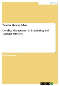 Cover Conflict Management in Purchasing and Supplies Function