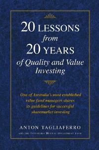 Cover 20 LESSONS from 20 YEARS of Quality and Value Investing