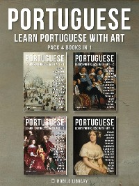 Cover Pack 4 Books in 1 - Portuguese - Learn Portuguese with Art
