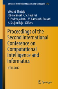 Cover Proceedings of the Second International Conference on Computational Intelligence and Informatics