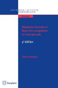 Cover Régulation bancaire et financière européenne et internationale