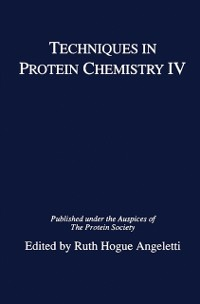 Cover Techniques in Protein Chemistry IV