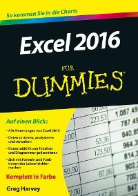 Cover Excel 2016 für Dummies