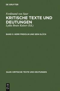 Cover Herr Fridolin und sein Glück