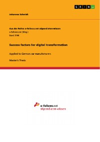 Cover Success factors for digital transformation