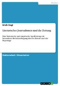 Cover Literarischer Journalismus und die Zeitung