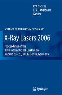 Cover X-Ray Lasers 2006
