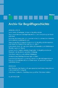 Cover Archiv für Begriffsgeschichte / Archiv für Begriffsgeschichte. Band 46