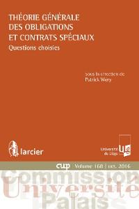 Cover Théorie générale des obligations et contrats spéciaux