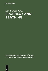 Cover Prophecy and Teaching