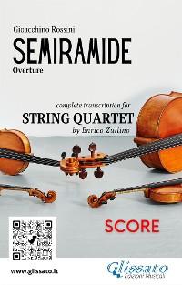 Cover Semiramide (overture) String Quartet - Score