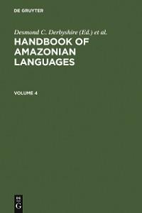 Cover HANDBOOK AMAZONIAN LANGUAGES