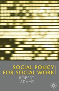 Cover Social Policy for Social Work