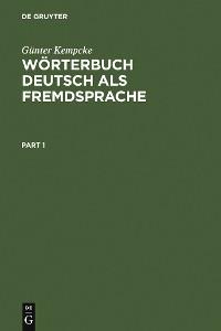 Cover Wörterbuch Deutsch als Fremdsprache