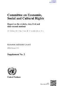 Cover Committee on Economic, Social and Cultural Rights