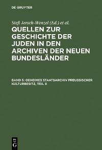 Cover Geheimes Staatsarchiv Preußischer Kulturbesitz, Teil II