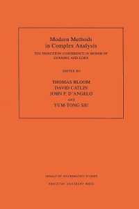 Cover Modern Methods in Complex Analysis (AM-137), Volume 137