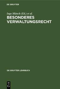 Cover Besonderes Verwaltungsrecht