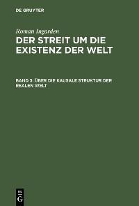 Cover Über die kausale Struktur der realen Welt