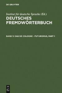 Cover Eau de Cologne - Futurismus