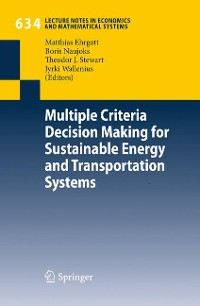 Cover Multiple Criteria Decision Making for Sustainable Energy and Transportation Systems