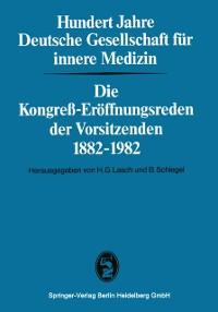 Cover Hundert Jahre Deutsche Gesellschaft fur innere Medizin