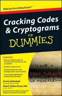 Cover Cracking Codes and Cryptograms For Dummies