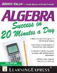 Cover Algebra Success in 20 Minutes a Day