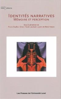 Cover Identites narratives: memoire et perception
