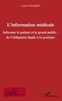 Cover L'information medicale - informer le patient et le grand pub
